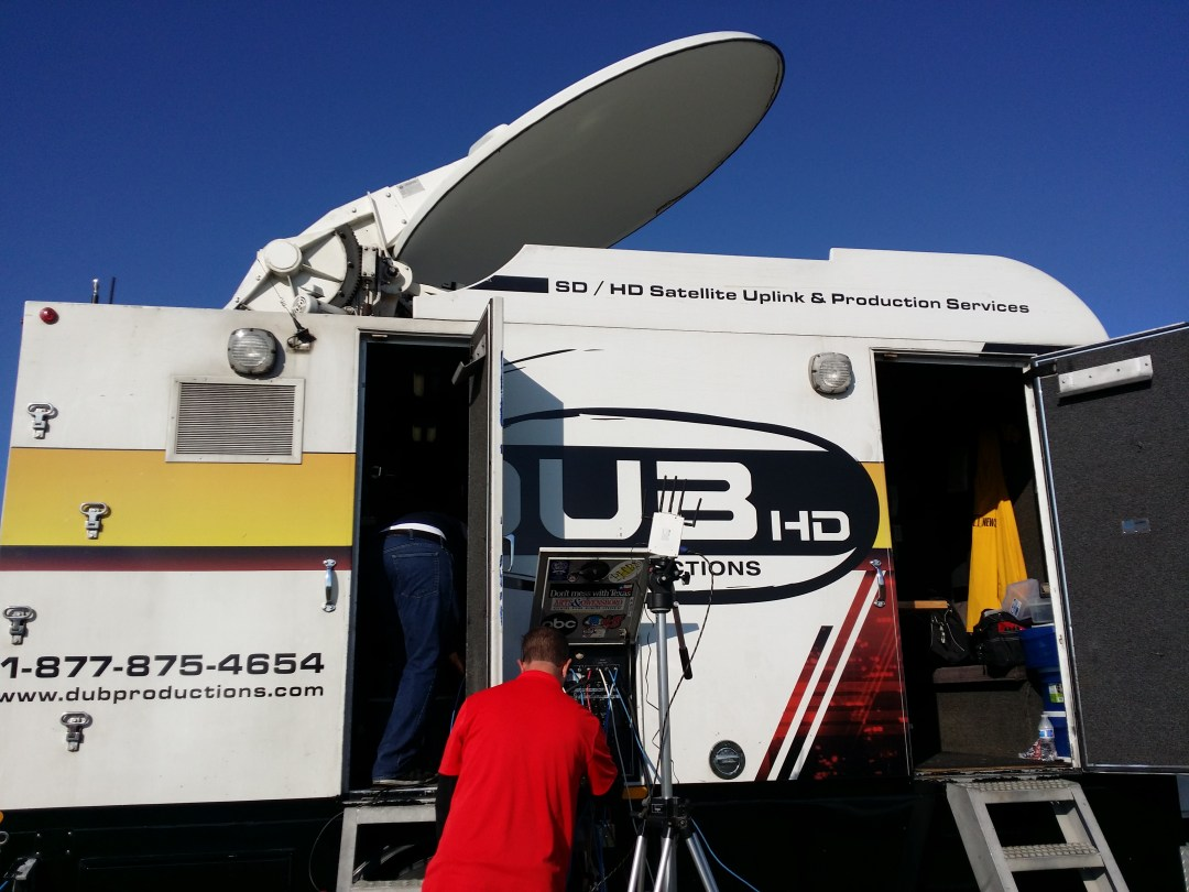 Drone Livestreaming to Satellite Truck