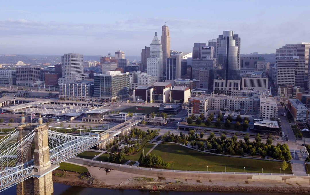 Lovely Cincinnati Drone photo of Smale Park