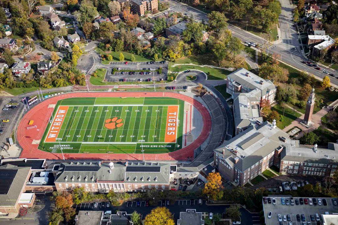 Cincinnati Drone View of Withrow High School Tigers