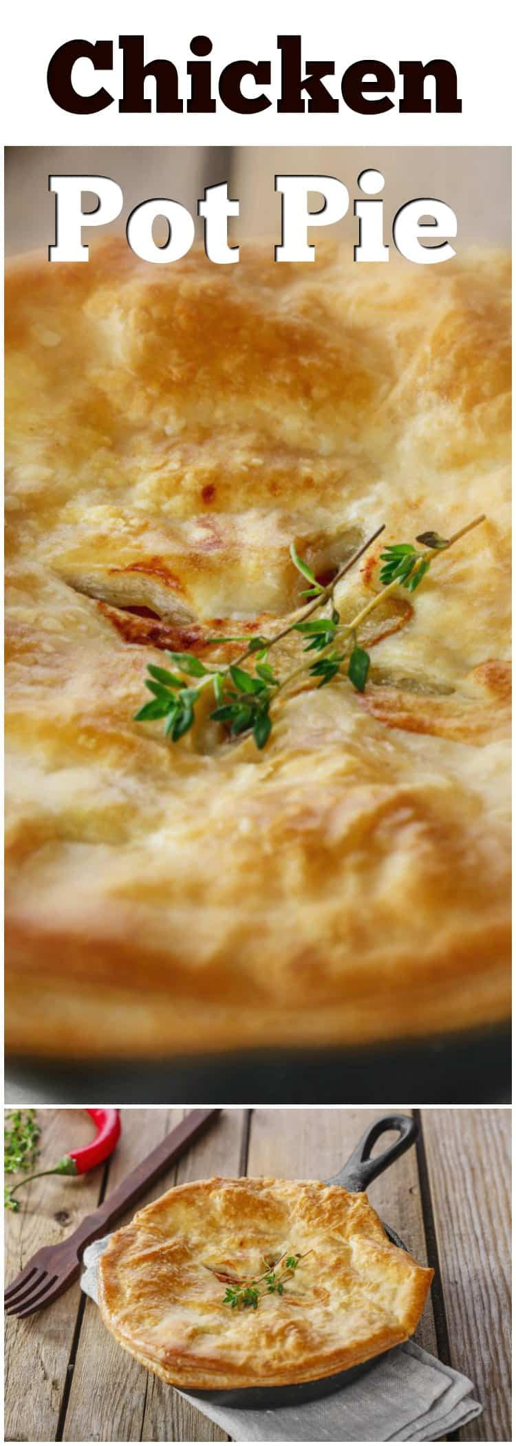 Just thinking about taking a Chicken Pot Pie right from the oven makes my mouth water. The tender chunks of chicken, nestled among onion, potato, peas or carrots and smothered by a deliciously flaky pastry – that's how I spell c-o-m-f-o-r-t.