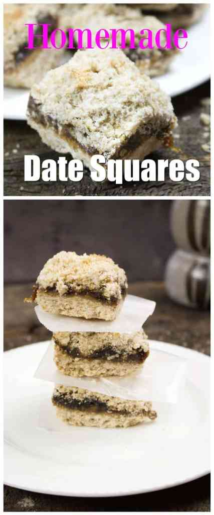 Easy Dessert Recipes. Homemade Date Squares.