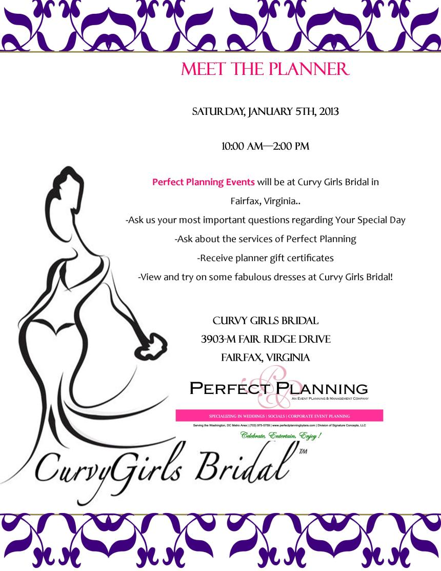 """Come See Us…Saturday, January 5th…""""Ask the Planner Day"""""""