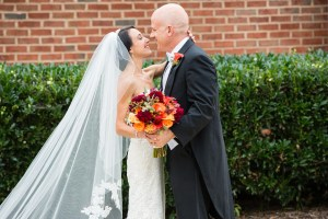 first look fall wedding by perfect planning events