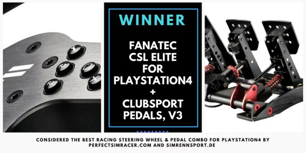 the best ps 4 racing wheels - winner - fanatec csl elite ps4 club sport