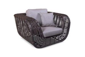 Плетеная мебель в интерьере