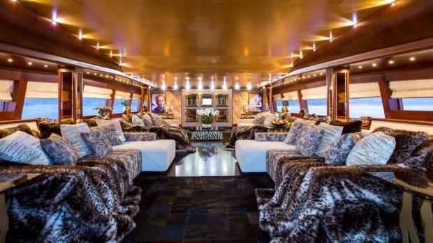 Celebrity Mega Yacht $2m+ Interior Refit from Roberto Cavalli