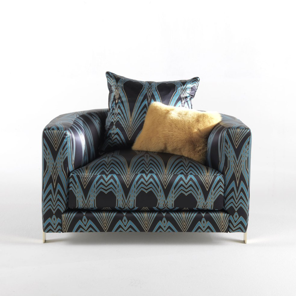 The Manhattan Round Armchair from Roberto Cavalli Home Collection