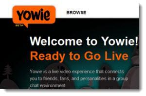 Yowie!, crear videoconferencias online