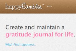 Happy Rambles, crear un diario de agradecimiento