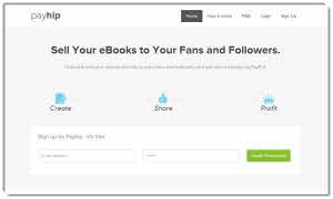 Payhip - ganar dinero en Internet vendiendo ebooks