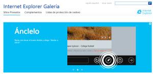 Internet Explorer Galería - encuentra todos los complementos para IE 10
