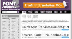 Fuentes gratuitas para todos los proyectos en FontSquirrel