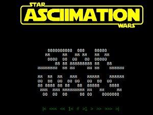 Star ASCIIMATION Wars - la película Star Wars con caracteres ASCII