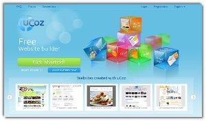 UCoz - un asistente para crear sitios web profesionales