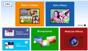 PiZap - editor de fotos online multipropósito