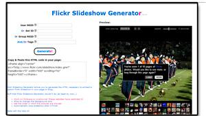 Flickr Slideshow Generator - generador de presentaciones tomadas de Flickr