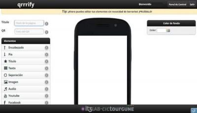 Crea páginas web móviles y compártelas con códigos QR