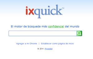 ixquick, buscador web para búsquedas anónimas