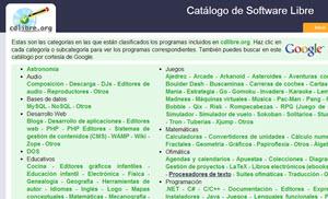 Catálogo de aplicaciones libres para Windows
