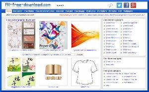 All Free Download - cientos de recursos gratuitos para diseñadores gráficos y web