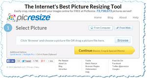 picResizer - cambiar el tamaño de imágenes y fotos desde la web