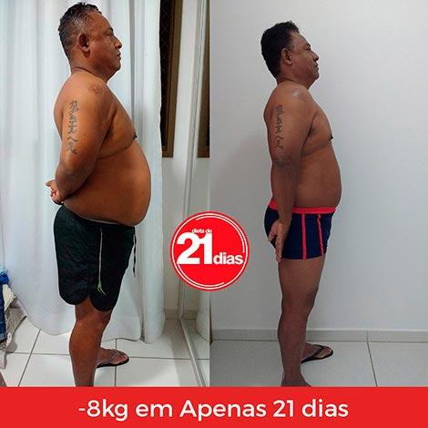 Dieta de 21 dias: antes e depois do Luis Carlos