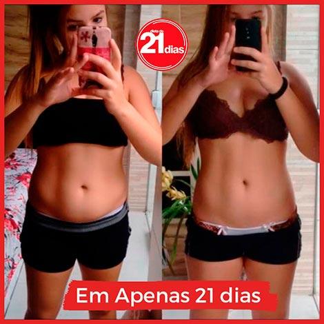 Dieta de 21 dias: antes e depois da Priscila