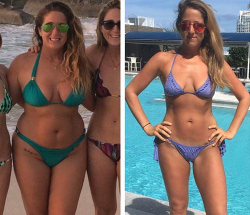 Dieta fácil de 17 dias: antes e depois