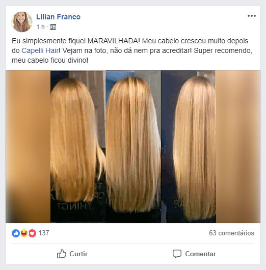 Depoimento Capelli Hair