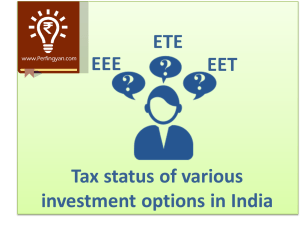 Various investment options in india