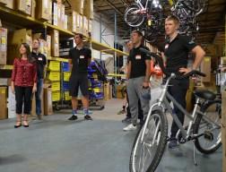 Team NetApp in the warehouse