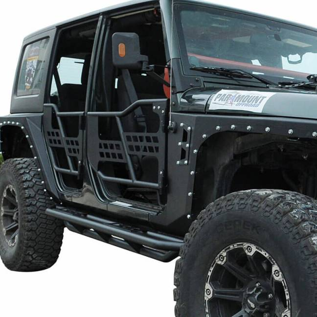 Paramount Automotive (51-0376): Tubular Safari Doors for Wrangler JK 4-Door