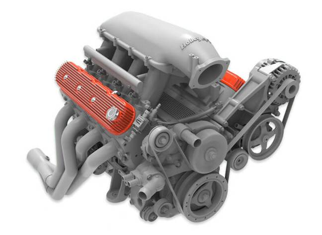 Holley: Vintage Series Tall-Fin Valve Covers for GM LS Engines