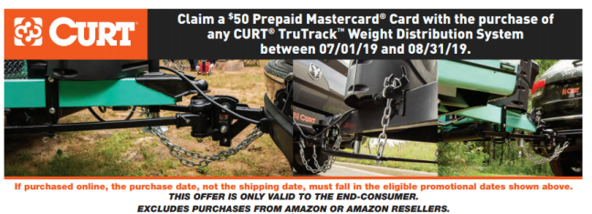 CURT: Get $50 Back on TruTrack Weight-Distribution Systems