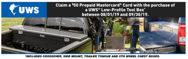 UWS: Get $50 Back on Low-Profile Crossover Toolboxes