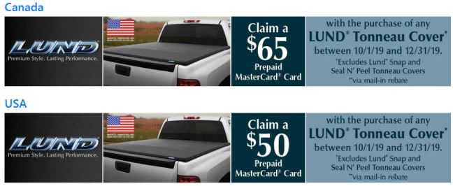 LUND: Get US$50 or CA$65 Back on Qualifying Tonneau Covers