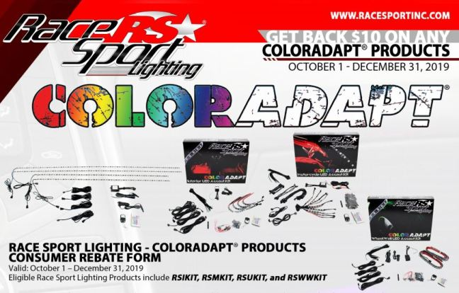 Race Sport Lighting: Get $10 Back on Qualifying ColorADAPT® Products