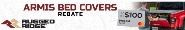 Rugged Ridge: Get up to $100 Back on Select Armis™ Truck Bed Covers