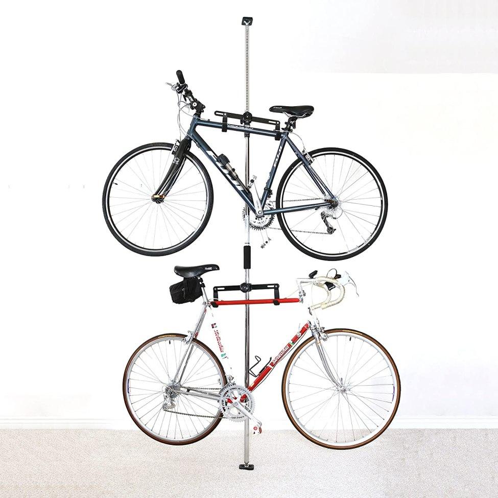 Sparehand Q-Rack II Freestanding Adjustable 2-Bike Storage Rack