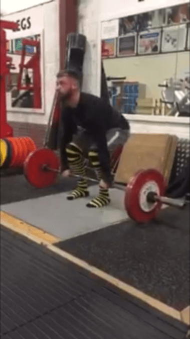 PFG Member Paul Atkinson working on some paused deadlifts