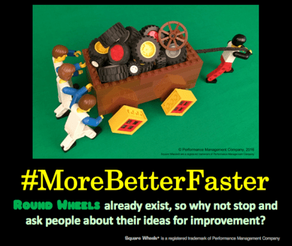 #Morebetterfaster is our general theme for facilitating workplace involvement and engagement
