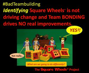 Badteambuilding is a theme of perception by Scott Simmerman of The Square Wheels Project