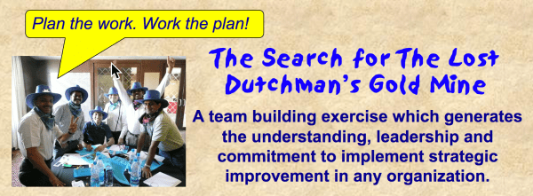 The Search for The Lost Dutchman's Gold Mine teambuilding simulation