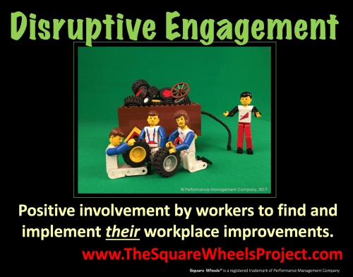 positive disruptive engagement and Square Wheels becomming round ones