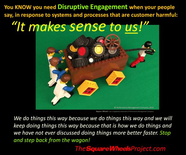 positive disruptive engagement and customer service empwerment