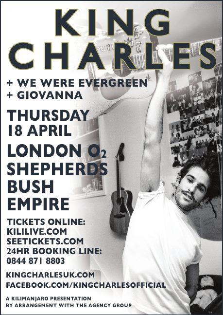 King Charles at O2 Shepherd's Bush Empire