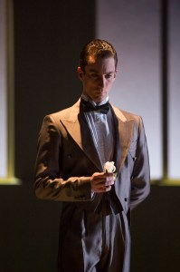 Tobias Batley as Jay Gatsby in The Great Gatsby. Photo by Bill Cooper