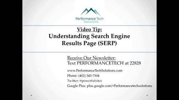 Performance Tech Solutions Video Tip - Understanding ...