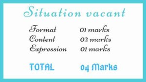 Situation vacant marking scheme