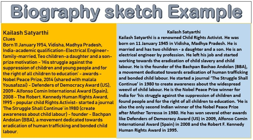 Biographical sketch example for students